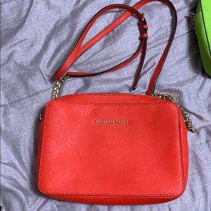Michael Kors red orange crossbody
